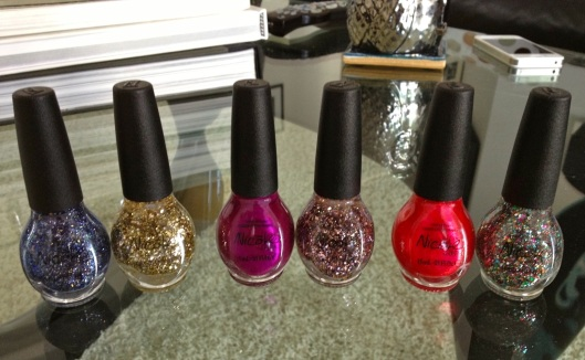 From left: PAIR ONE, Mi Fantasia & Kissed at Midnight; PAIR TWO Pretty in Plum & Inner Sparkle; PAIR THREE Scarlett & Confetti Fun.