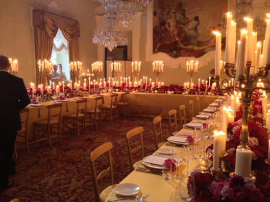 This is the gorgeous room where the reception was held. The room was lit only by candlelight. The good tasted as good as the room looked, if you can believe it.